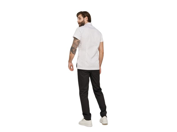 Рубашка на кнопках белая