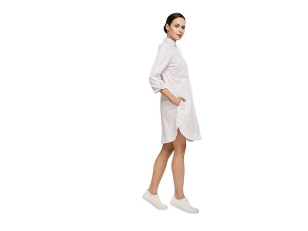 Платье-рубашка белое