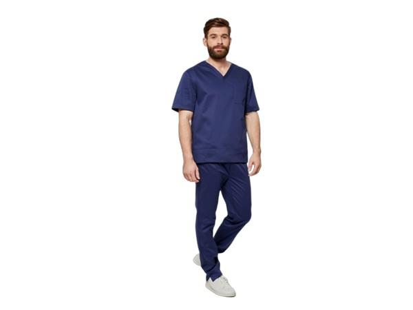 Туника медицинская с коротким рукавом синяя